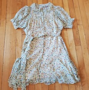 Doen-inspired Silk Mira Dress Sz S
